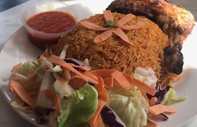 Jollof Rice and Grilled Chicken